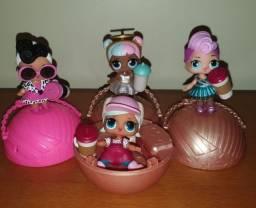 Bonecas Lol originais com folheto, adesivos e bolinha protetora