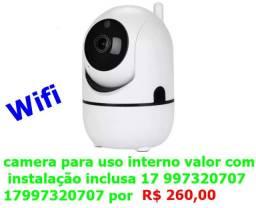 Título do anúncio: camera wifi para uso interno valor com instalação inclusa *