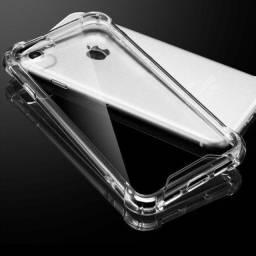 Capa celular anti impacto transparente cantos reforçados todos os modelos desmartphone