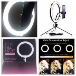 Título do anúncio: Ring Light 26 cm com tripé de mesa