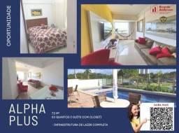Título do anúncio: Apartamento 3/4, cond. com lazer, suíte e closet, 72m², Paralela, 2 garagens