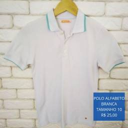 Camisa Polo Infantil Alfabeto