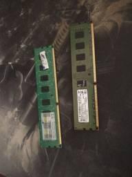 Pente memória 2x RAM 4gb ddr3