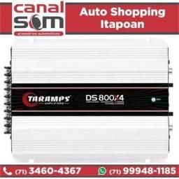 Título do anúncio: Módulo Amplificador Taramps Ds800X4 4 Canais 2 Ohms na Canal Som
