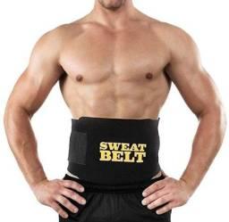 Título do anúncio: Cinta Modeladora Sweat Belt Fitness Crossfit yoga Treino Academia Ginástica (C)