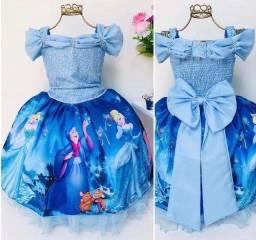 Vestido da Cindera para 4 ou 5 anos lindo baratinho somente 100$