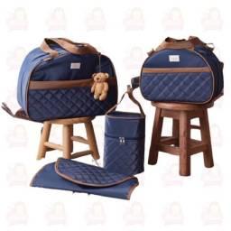 Título do anúncio: Bolsa Maternidade 4 peças - Azul marinho