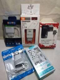Carregadores, Cabos, Plug's e Fones de Ouvido (BT e P2).