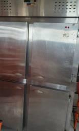 Geladeira inox 4 portas krasinox