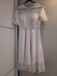 Título do anúncio: Vestido midi branco em renda