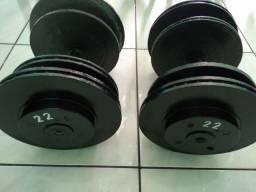 Título do anúncio: Halteres de 10kg, 16kg, 18kg e 20kg