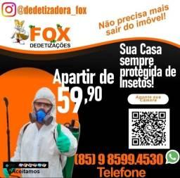 Título do anúncio: Dedetizadora Dedetização - Detetização - 9 8 5 9 9 4 5 3 0 - Ligue para Fox