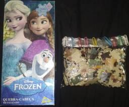 Vendo Quebra Cabeça Metalizado 200 Peças Frozen
