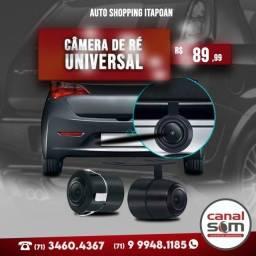 Título do anúncio: Câmera de Ré Universal Colorida Para-Choque ou Borboleta instalada na Canal Som