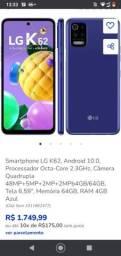 Celular LG k62 último lançamento