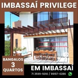 Título do anúncio: Bangalôs 2 suítes, 158m² - Imbassaí Privillege - Oportunidade