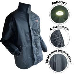 Título do anúncio: Jaqueta Capa de Chuva Motoqueiro Impermeável Nylon Emborrachado