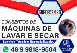 Título do anúncio: CONSERTOS DE MÁQUINAS DE LAVAR, SECADORAS E ESPECIALIZADA EM LAVA E SECA
