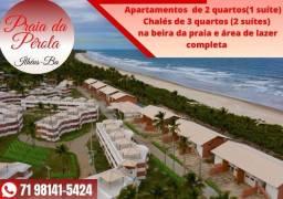 Título do anúncio: Praia da Pérola -Ilhéus Apto 2/4 em 68m², suíte, varanda á Beira mar- Oportunidade XX