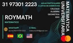 Título do anúncio: listas e resolucao de exercicios:calculo, gaal, edo, algebra, geometria e outras