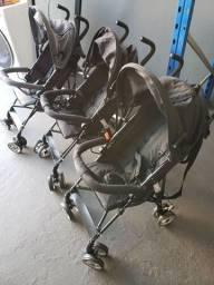 Carrinho de Bebê de Passeio Pratic Preto - First Steps