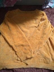 Título do anúncio: Blusa de lã, VERDE e AMARELA