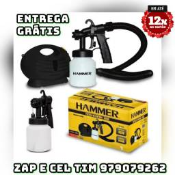 Pistola Pulverizadora Compressor Ar Direto Hammer 650w 220v