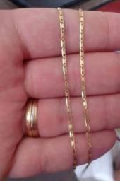 Cordão Masculino Piastrine Maciça 60cm Em Ouro 18k-750