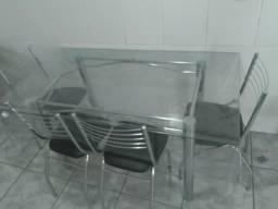 Mesa de vidro 6 cadeiras!