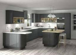 Armário Cozinha Planejada Moderna Projeto 3D Grátis Qualidade Top Zap 3199385-5000