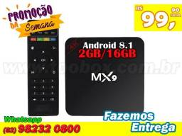 TV Box MX9 Android 7.1 - 2G RAM 16G ROM - Fazemos Entregas