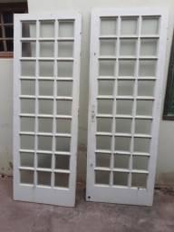 2 portas de ferro super reforçado( precisa do batente ou adptar para correr