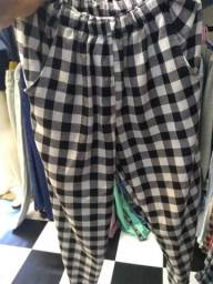 NOVA calça xadrez flanelada