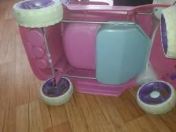 Carrinho esmart de menina rosa da até 6 anos não entregou