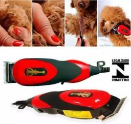 Kit Completo Tosa Cachorro Cães Maquina Cortar Pelo Animal