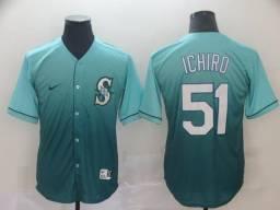 Camisa de Beisebol Oficial MLB Nike Seattle Mariners Ichiro Suzuki