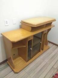Rack madeira mesa giratória para tv