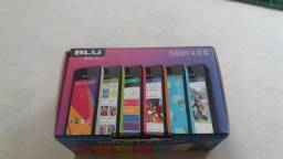 Celular smartphone BLU com carregador, fone, manual e caixa original
