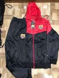Agasalho do Barcelona preto com vermelho 53f7692a71e2e