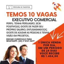 TEMOS 10 Vagas para Executivo Comercial