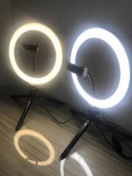 (Novo) Ring Light 26cm/10 Polegadas+ Tripé De Mesa+ Suporte Celular