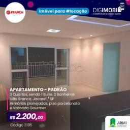Apartamento para alugar com 3 dormitórios em Villa branca, Jacarei cod:L3195