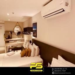 Apartamento com 1 dormitório para alugar, 30 m² por R$ 2.000,00/mês - Tambaú - João Pessoa