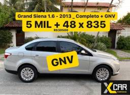Grand Siena 1.6 + GNV - 2013 _ Completo _ 2 Dono _