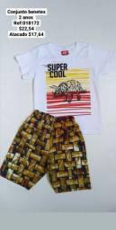 Camisa e shorte infantil Benetex