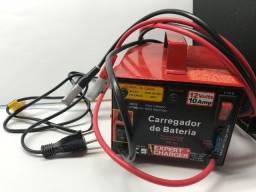 Carregador de bateria automático novo Expert Charge, 12V, 10 amp