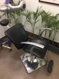 Cadeira reclinável de cabeleireiro
