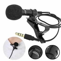 Microfone de Lapela Profissional P3 Estéreo, Celular, Smartphone - Lives, YouTube