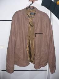 Jaqueta de couro de carneiro unissex
