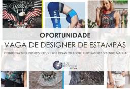Oportunidade: Vaga de Designer de estampas